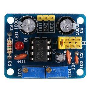 Module Carte Générateur de Signal Réglable Générateur de Fréquence Impulsion NE555 avec Indication LED