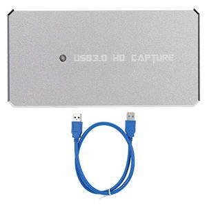 Mugast Boîtier de Capture vidéo Multifonctions, enregistreur de vidéo USB 3.0 HDMI HD pour Windows/Mac pour Le Streaming vidéo, Les diffusions Web en Direct, la vidéoconférence, etc.