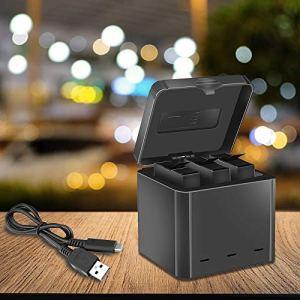 Mylujo Chargeur d'appareil Photo pour Insta360 One X Sports Box de Charge Box Type-C Interface Trois Chargeur de Batterie au Lithium Multifonctionnel Portable Stockage de Voyage