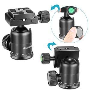 Neewer Camera Tripod Ball Head rotatif à 360 ° panoramique avec 1/4 , pour appareil photo DSLR Caméscope trépied monopode