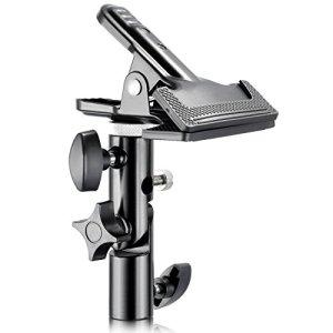 Neewer® Pince Support Porte Photo Studio Lourd Collier Métallique avec Raccord de 5/8″ Support Lumière pour Réflecteur