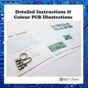 PANASONIC TX-P50VT30E Kit de réparation YSUS – TNPA5335 SC BH/BG (4, 5 ou 7 Flashes)
