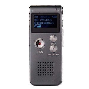 Pegcduu N28 8G Digital Voice Tracker Pen Enregistrements o Réduction du Bruit Appareil d'enregistrement Lecteur MP3, Gris