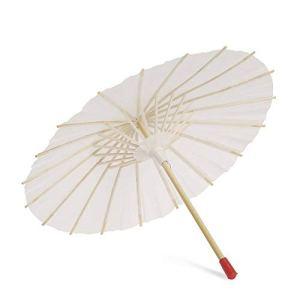 Rowentauk Enfants Bricolage Papier Parapluie Chinois Classique Artisanat Huile-Papier Parapluie Fête De Mariage Blanc Parasol De Mariée