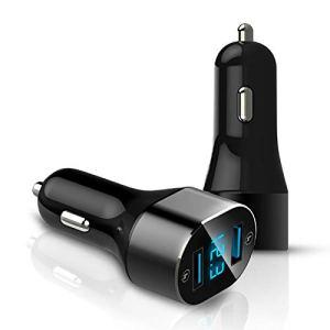 Sheng C12 QC 3.0 3A USB double affichage numérique Chargeur allume-cigare