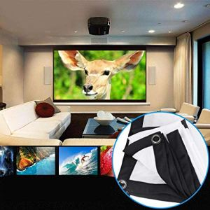 Sikena 120x90cm 4:3 Anti-pli Pliable pour l'écran de Film de projecteur extérieur d'intérieur de théâtre à la Maison DV