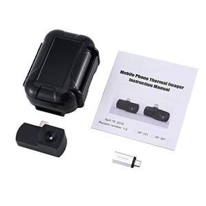 Silverfer Caméra d'imagerie Thermique pour téléphone Portable prenant en Charge l'enregistrement de vidéos et d'images avec l'adaptateur Android HT-101