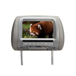 Spachy Moniteur Universel pour appuie-tête de véhicule 7 Pouces pour Lecteur DVD et Jeux vidéo, N° 0, Gris, Free Size