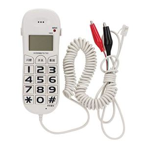 Tangxi 1601 Ligne téléphonique Téléphone Testeur de câble réseau Testeur de Bouts Testeur de Ligne Outil de Jeu de câbles pour télécom Vérifier la Ligne téléphonique Ligne de contrôle dédiée Enquête