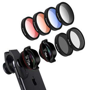 TLgf Kit de lentilles de caméra HD Phone, Filtre de lentille de Portrait Grand Angle pour Filtre de téléphone Mobile CPL Photographie en Plein air