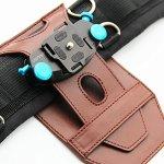 UONNER Sangle de Fixation pour Appareil Photo avec Plaque Standard pour Canon Nikon Sony DSLR Gopro (Bleu)