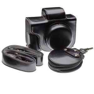 vhbw Étui Appareil Photo Compatible avec Canon Powershot G1 X Mark III Appareil Photo – Noir