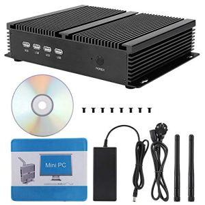 Wendry Ordinateur hôte PC Mini,Faible consommation d'énergie,Sortie Double Bande 4K Compatible,la vidéo HD 4K avec décodage HD pour HYSTOU P04-1007U-2L Aucun Stockage Pas DE RAM RAM Min(EU)