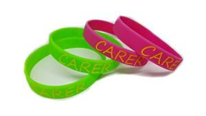 Www.wristbandsforyou.com 2x le Personnel soignant Bracelet Compte du Medical Alert Bracelet I Am A le Personnel soignant 1 Green & 1 Pink