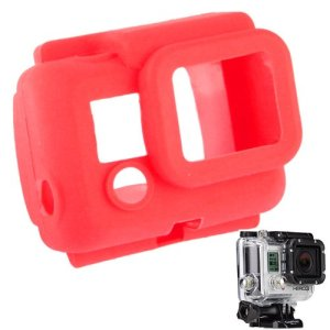 YOOW Cas de l'appareil Photo Nouvelle Protection en Silicone for GoPro HERO3 (Vert) (Color : Red)