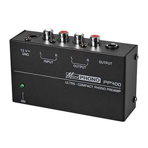 Andifany Ultra-Compact Préamplificateur Phono Préamplificateur Préamplificateur Phono (EU Plug)