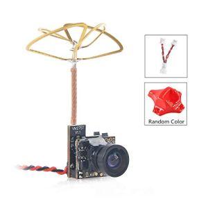 Crazepony-UK Tiny Whoop Caméra FPV Micro AIO Camera 120 degrés 5.8G 40CH Transmetteur 25mW avec antenne circulaire à trèfle en feuille de trèfle
