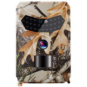 Famyfamy Caméra de Chasse étanche 12 MP 1080p Vision Nocturne Infrarouge HD vidéo