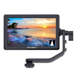 Feelworld FW568 5.5 Pouces sur Caméra Moniteur DSLR Camera Field Monitor Small Full HD 1920×1080 IPS Video Peaking Focus Assist avec 4K HDMI 8.4V DC Input Output Inclure Tilt Arm
