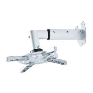 Fixation murale vidéo-projecteur / projecteur blanc rétractable de 25,5cm à 33cm inclinable à 30° rotation 180° pour BenQ W1070+W