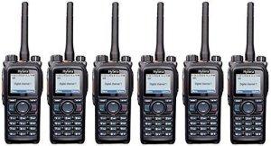Hytera X1P GPS 5 W &UHF analogique et numérique Radio EAN22 Oreillette discrète x 6