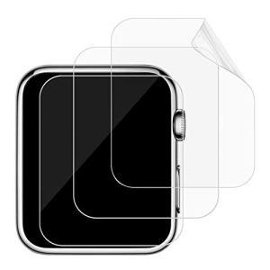 JETech Protection écran pour Apple Watch 42mm Serial 1 2 3 Film Protège d'écran Transparent, Lot de 3