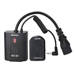 Leepesx AC-04B 4 canaux Radio sans Fil émetteur déclencheur de Flash à Distance récepteur 3,5 mm avec Adaptateur 6,35 mm pour Tous Les flashs de Studio et flashs d'extérieur