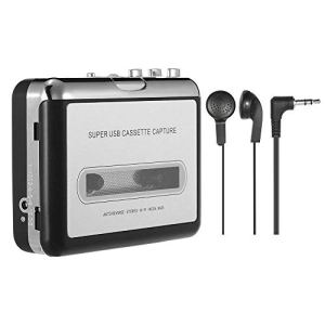Nrpfell Lecteur Cassette Portable Captures De Lecteur à Cassettes Via USB Compatible avec Portables Et Bande De Conversion De Pc Cassettes vers Ipod / Mp3 / CD Format avec des écouteurs
