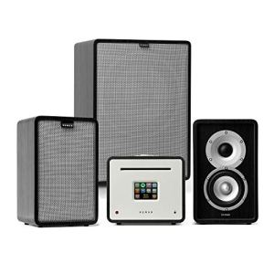Numan Unison Rétrospective 1979 S Edition – Récepteur, Amplificateur et système 2.1 Tout-en-Un, Radio Internet/Dab+ / FM/BT/USB/Spotify, Ecran Couleur TFT 2,8″, Noir/Gris
