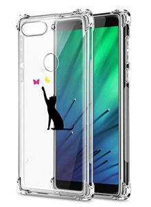Oihxse Transparent Silicone Mignon Case Compatible pour Xiaomi Redmi 8A Coque TPU Souple Ultra Mince Housse Clear Crystal Design Motif Anti-Scrach Protection Etui Bumper (A4)