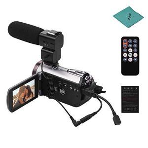 ORDRO HDV-AZ50 Portable Real 4K UHD 30FPS WiFi Caméscope numérique 3,1 Pouces Écran Tactile IPS Touch 64X Zoom numérique IR Caméscope de Vision Nocturne avec 2pcs Batteries