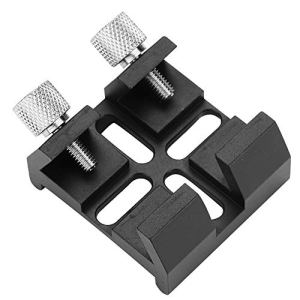 Qiterr Télescope Finder Scope Mount Dovetail Astronomical Telescope Accessories Guide Dovetail Groove Guide Trough Finder Base