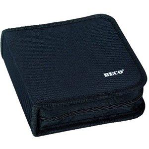 Rangement organiseur classeur pour 24 CD en nylon noir