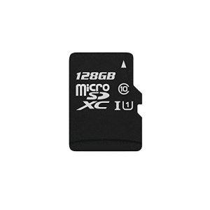 Yaxiny Carte mémoire à haute vitesse avec adaptateur de carte TF MicroSDHC 128Go UHS-I Grade 1Class 10