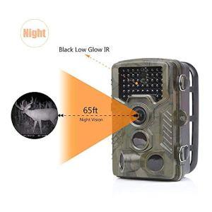 16MP Trail caméra IP56 imperméable à l'eau extérieure Chasse caméra Ordinaire Infrarouge HD Sauvage Animal caméra LED Nuit Version Surveillance de la Faune et la sécurité à la Maison