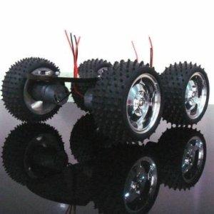 4wd kits de châssis moteur en métal de voiture robot intelligent grand couple pour Arduino