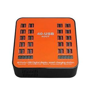 Afficheur LCD intelligent Chargeur rapide pour téléphone portable, station de charge rapide USB 40 ports, pour chargeur de bureau adapté aux voyages, adapté au dispositif de charge USB ZDDAB