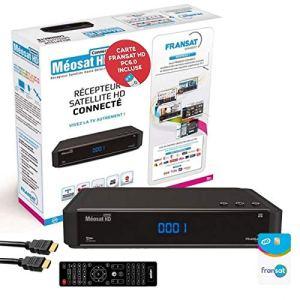 Aston Récepteur TV Satellite HD Connect + Carte Fransat PC6 + Câble HDMI