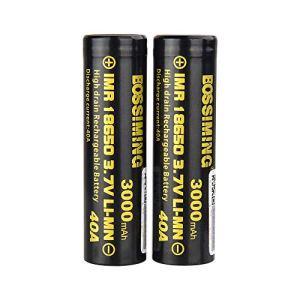 Batterie 18650 Décharge De La Batterie Au Lithium 3000Mah40A De Puissance De 3.7V 18650, Batterie Rechargeable 2Pcs De Nuage Tenu dans La Main De Cigarette Électronique