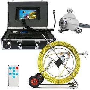 BD.Y Système De Vidéo Plomberie Vidéo avec Serpentin D'endoscope Industriel avec Moniteur LCD De 7 Pouces, Câble D'enregistreur DVR 1000TVL 100M (avec Carte SD De 8 Go)