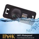 Caméra de recul 1280 x 720 p intégrée dans la Plaque d'immatriculation, caméra de recul pour Mini Cooper R50 R52 R53 R56 BMW X3 E83 2003~2010 MK1 X1 E84 X3 X5 X6 E53 E70 E71 E72 E83