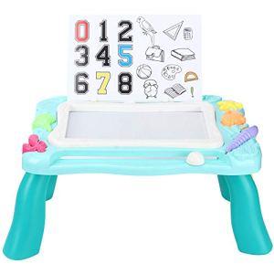 Camidy Planche à Dessin Magnétique Détachable Multifonctionnel Pliant Enfants Bricolage Écriture Dessin Tableau Effaçable Table Bébé Cadeau d'anniversaire