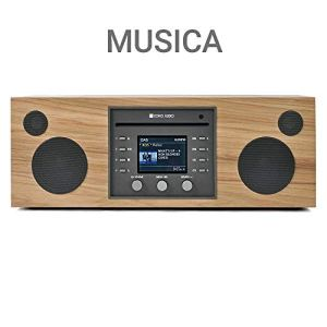 Como Audio: Musica – Wireless Music System with CD Player, Internet Radio, Spotify Connect, Wi-FI, FM, Bluetooth and One Touch Streaming (Hickory/Black)