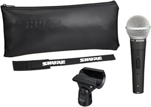 Dynamic Microphone SHURE SM58-S Black and Silver, Vocal Cardiodie