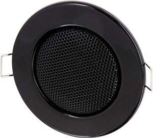 Encastrable Haut-parleur Métal 3W Ø 80mm–Ø 60mm–montage de serrage–Technologie Basse Ohm–pour mur et plafond–Halogène design–Noir