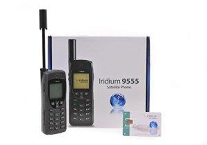 Iridium Téléphone satellite 9555 et carte SIM avec 500 minutes pour 365 jours
