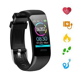 Kolaura Fitness Tracker, Bracelet étanche Tracker d'activité avec Moniteur de fréquence Cardiaque, Moniteur de Sommeil, Notification de Message, podomètre pour Android iOS