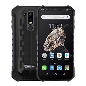 Lbf IP68 / IP69K étanche anti-poussière anti-choc, ID visage et identification par les empreintes, 5000mAh Battery, 6,2 pouces Android 9.0 Helio P70 Octacore 64bit jusqu'à 2,1 GHz, Réseau: 4G, OTG, NF