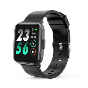 MOTOK Montres Connectées Smart Watch Fitness Tracker avec 5ATM étanche Toute la journée fréquence Cardiaque et Suivi d'activité, Smartwatch pour Hommes Femmes Compatible avec iOS Android
