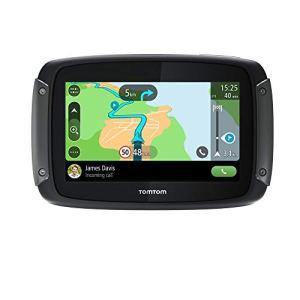 TomTom GPS Moto Rider 50 – Cartographie Europe 24, 3 Mois de Trafic et de Zones de Danger inclus, Routes Sinueuses et Vallonnées, Appel Mains-Libres, Compatible Siri et Google Now